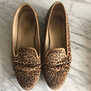 Stubbs & Wootton Velvet Leopard Shoes